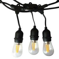 IP65 Outdoor LED String Licht 10M Gauge Schwarz Kabel mit 10 4W Edison Lampen Perfekte Dekoration Für Terrasse garten Party Weihnachten