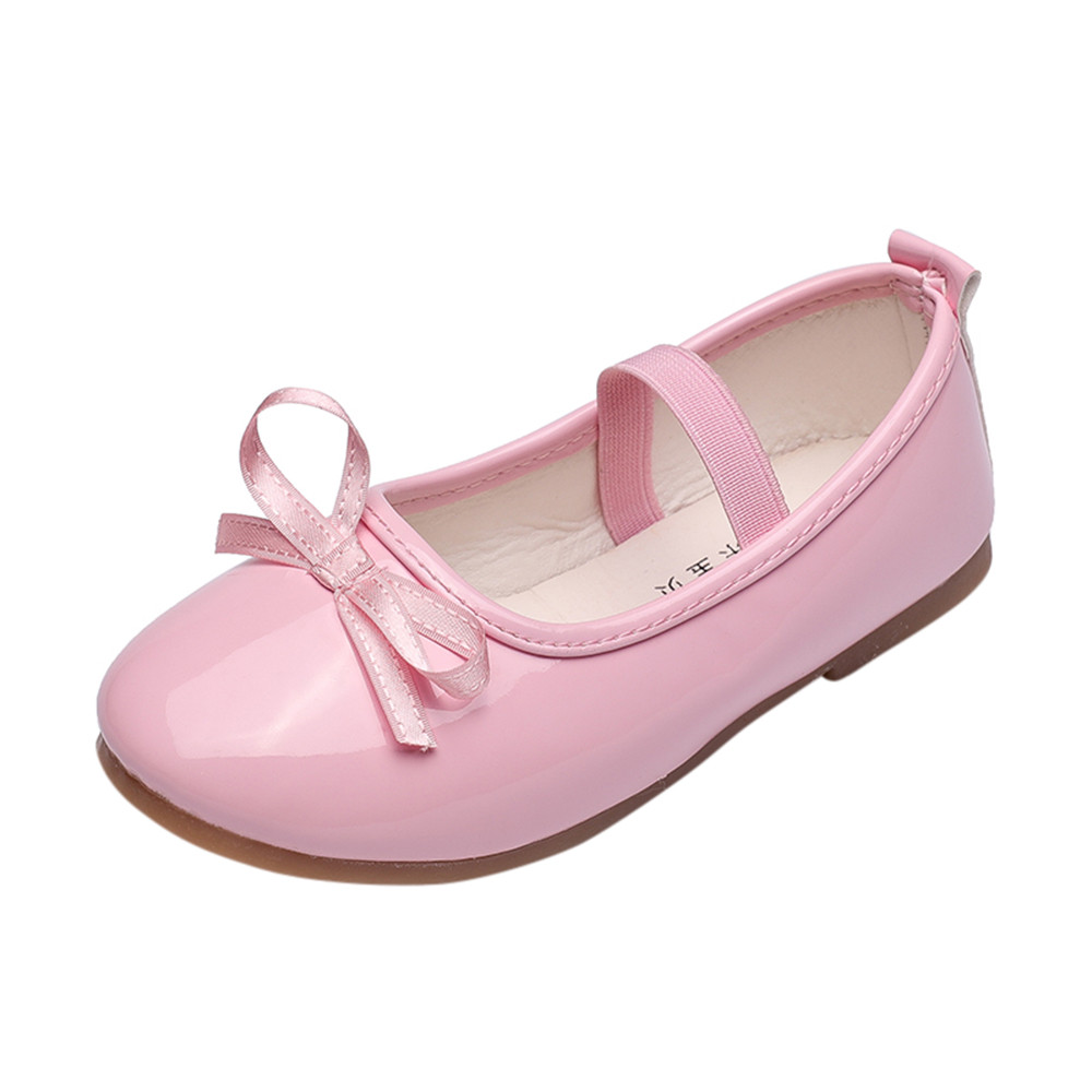 Baby kids shoes for girl Fashion Sneaker Child Girls Bow Casual Single Leather Pricness Shoes