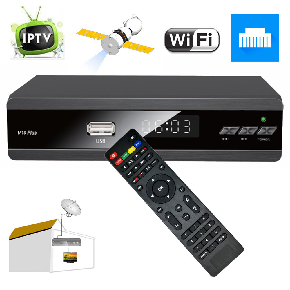 Full HD DVB-S2 Digital Satelliet Receiver AC3 SAT To IP Ethernet LAN Wifi 1G 8M Ram Optional 1 year Europe IKS Cccam Cline Combo pvt 898 5g 2 4g car wifi display dongle receiver airplay mirroring miracast dlna airsharing full hd 1080p hdmi tv sticks 3251