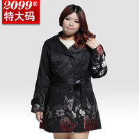 Women Vintage Plus Size Loose Trench Coats Fashion Ladies Double Breasted Trench Outerwear Female Large Size Coats H4641