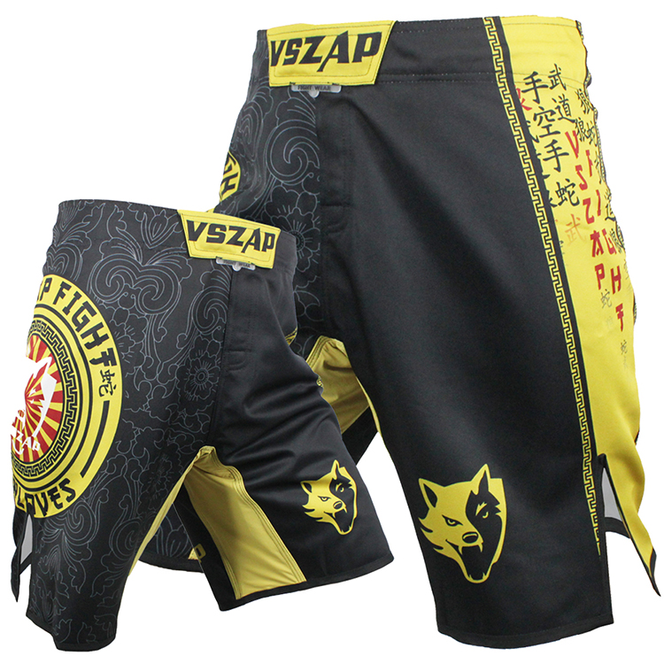 US $22 38 20% OFF|VSZAP Wolf snake and panty man MMA fitness training Thai  boxing martial arts martial arts fight -in Boxing Trunks from Sports &
