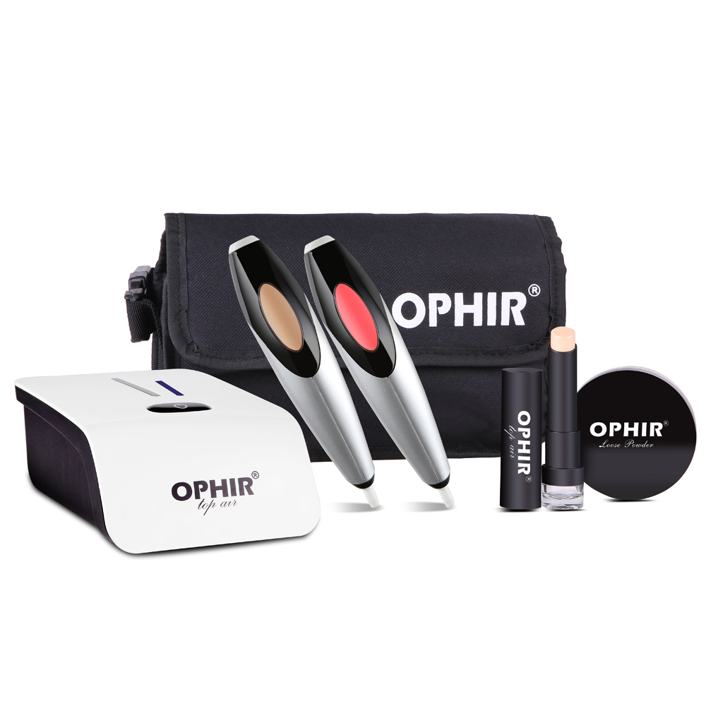 OPHIR Airbrush Maquillage Kit Cosmétique Aérographe Ensemble Aérographe Maquillage Système Air Fondation Blush Pulvérisateur OP-MK004W