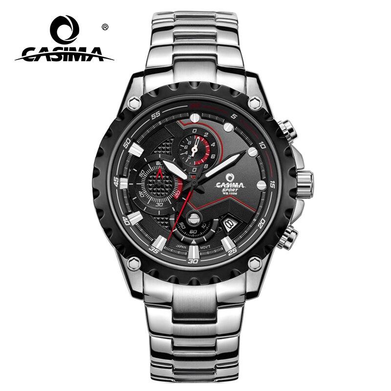 CASIMA Hommes Montre-Bracelet Sport Hommes Montres De Mode Montre À Quartz Lumineux Montre Étanche Hommes Multifonction #8203