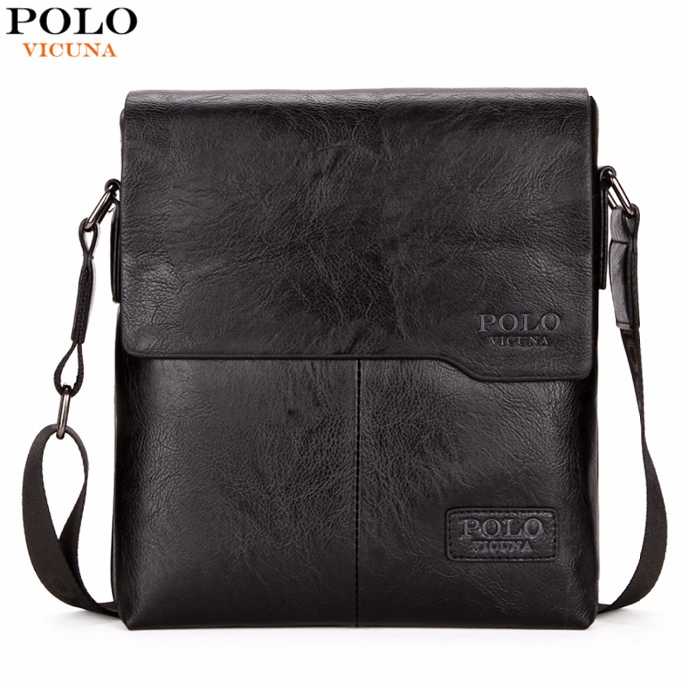 VICUNA POLO Vintage Fashion Mens Leather Bag Brand Casual Business Mens Bag High Quality New Mens
