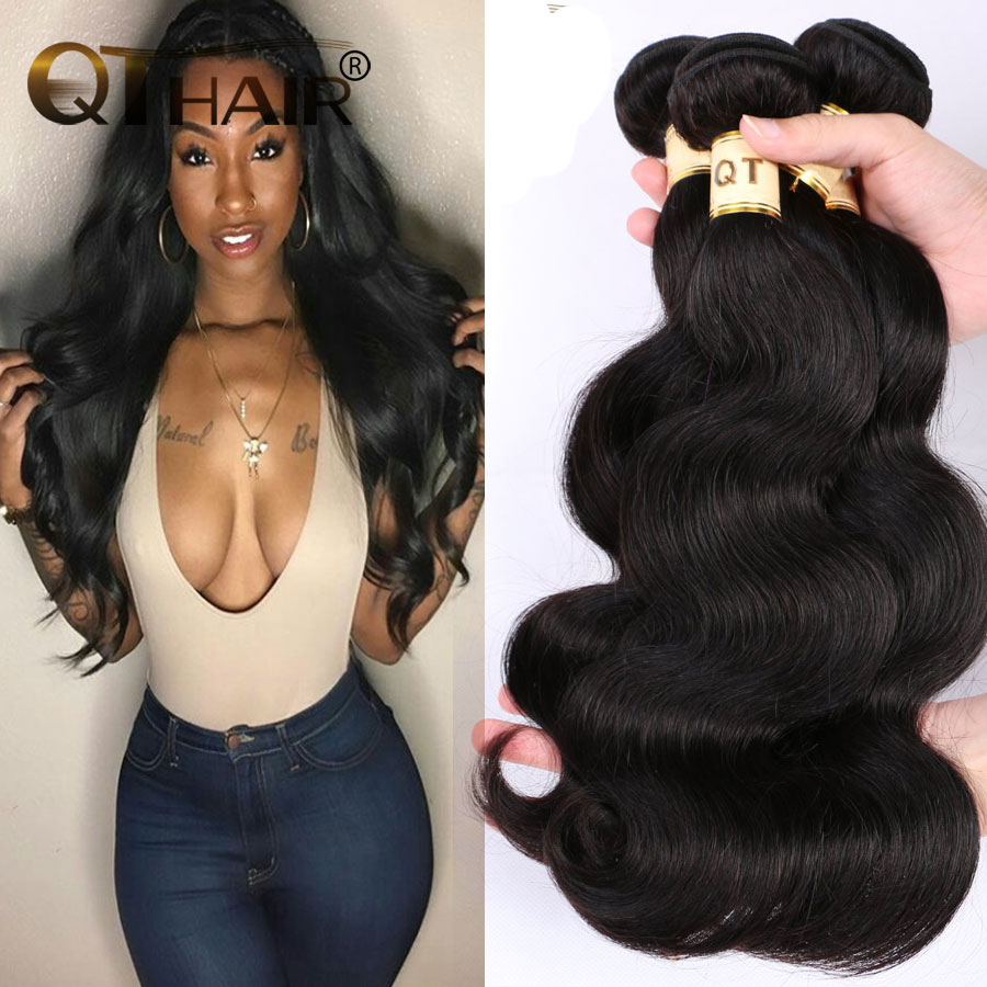 Queen Hair Products Malaysian Virgin Hair Body Wave 8A Unprocessed Virgin Malaysian Body Wave Hair 3Pcs Remy Human Hair Bundles