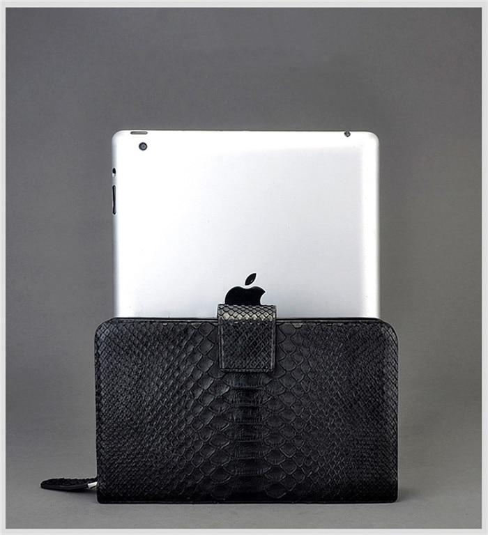 b47d9b0a7f2 Jranter luxury fashion genuine python snakeskin men clutch wallet bag  handmade black JYMNQB008-in Wallets from Luggage & Bags on Aliexpress.com |  Alibaba ...
