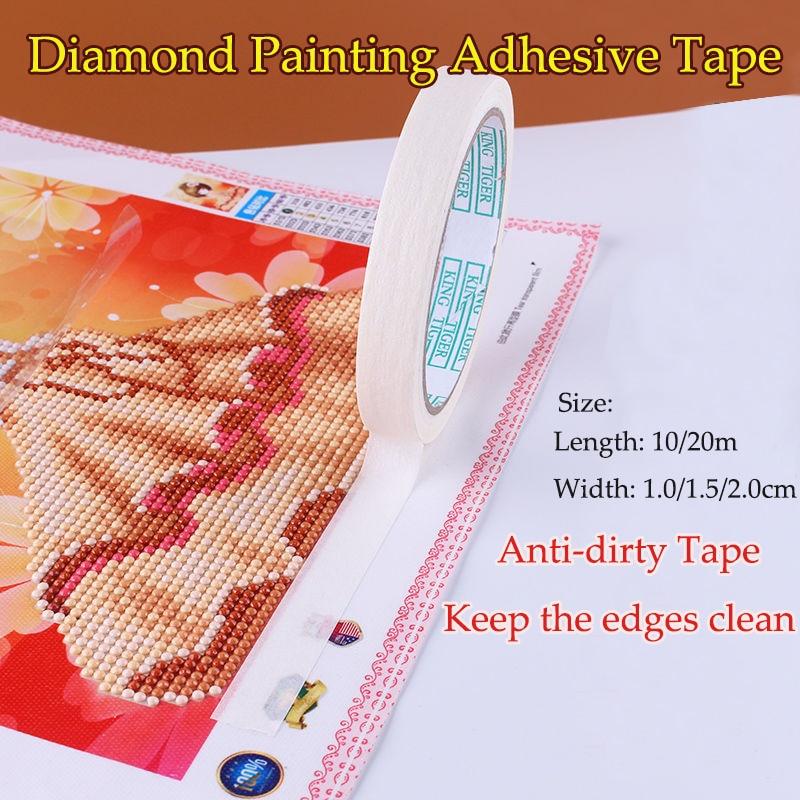 20m Anti-dirty Tape 5D Diamond Painting Tool Adhesive Edges Sticker Accessories~