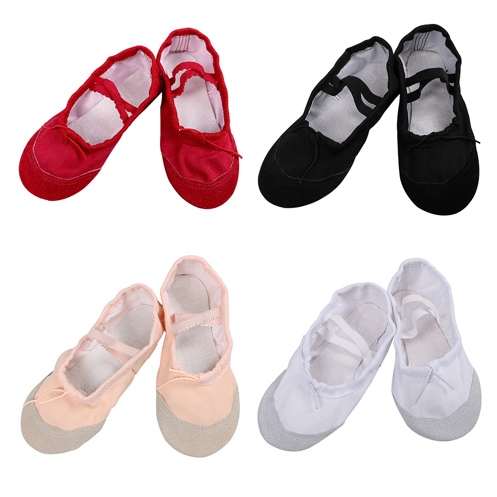 Professional Dance Ballet Shoes For Children Kids Girls Soft Sole Shoes Breathable Tip Comfortable Breathable Fitness 4 Colors