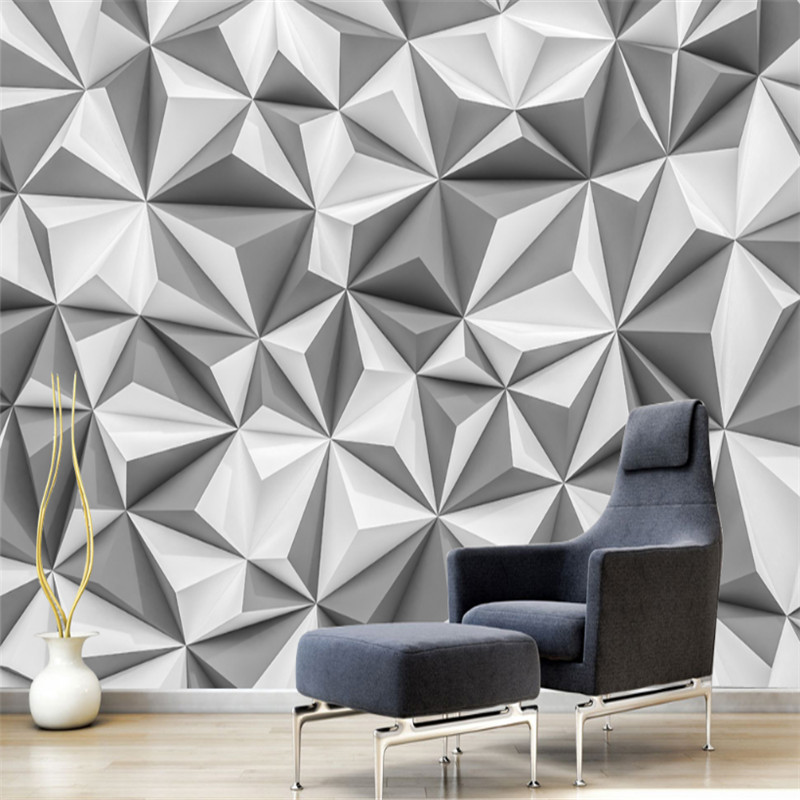 custom modern 3d photo 3d non-woven wallpaper murals contemporary and contracted style 3d geometric background wall home decor beibehang modern luxury circle design wallpaper 3d stereoscopic mural wallpapers non woven home decor wallpapers flocking wa