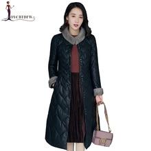 Autumn Women Jacket Female Winter Sheepskin Parkas Women Mink Fur Collar Down Jacket Ladies Winter Genuine Leather Coat Xy611