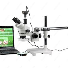 Led galgenstativ stereo zoom microscop-amscope supplies 3.5x-180x led galgenstativ stereo zoom-mikroskop + 5mp kamera