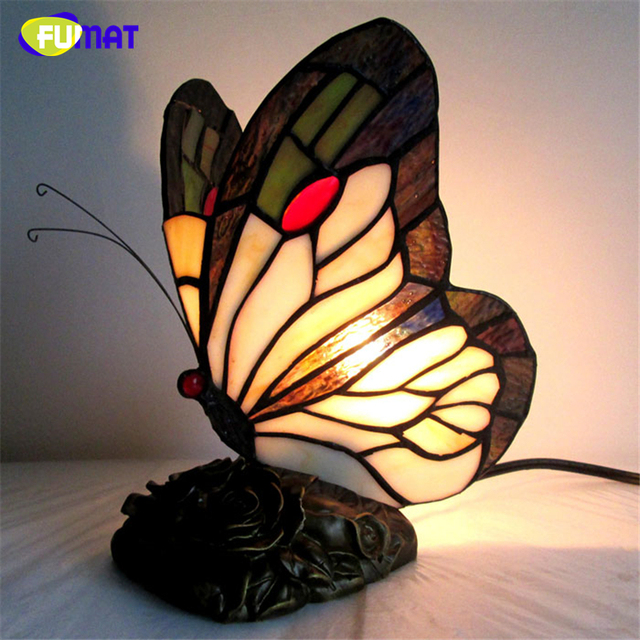 Perfect FUMAT Stained Glass Butterfly Table Lamps Art Creative Tiffanylamp For  Living Room Bedside Lamp Decor Art