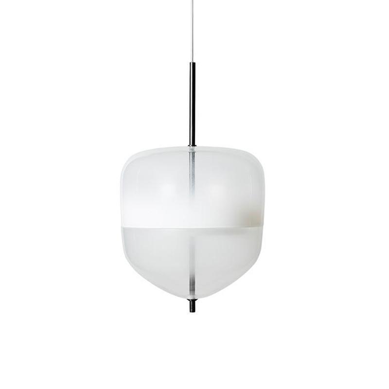 Image 4 - Nordic modern teardrop shaped blue glass pendant light LED art deco simple white hanging lamp for living room restaurant kitchen-in Pendant Lights from Lights & Lighting