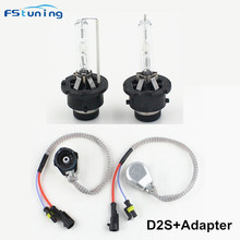 FSTUNING 12V 35W D2S Xenon HID Car Headlight Fog Light  D2S AMP connector Adapter 4300K 5000K 6000K 8000k 10000k D2S Xenon Lamp d2s car hid xenon low beam headlight bulbs hid xenon lamps replacement bulb pack of two 12v 35w d2s 4300k 6000k 8000k