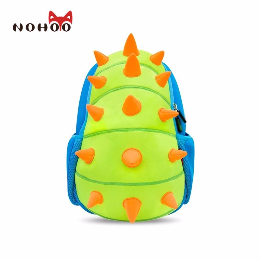 NOHOO Animals Waterproof Kids Baby Bags Kindergarten Neoprene Dinosaur  Children School Bags For Girls Boys Cartoon School Bags b3636f5192