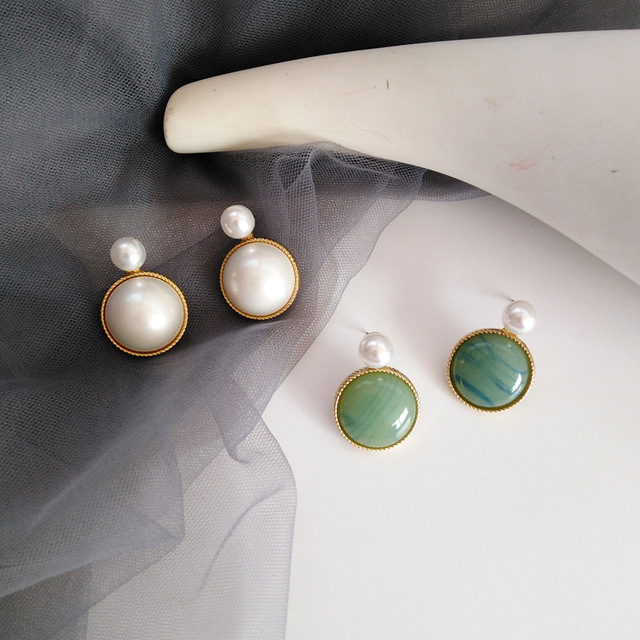 Luxury Vintage Palace Stone Pearl Clips on Earring Without Piercing Forest Elegant Crystal No Ear Hole Ears Clip Earrings Women