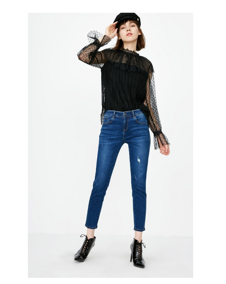 ONLY19 Women's autumn new low waist skinny cropped jeans | 118349574 15