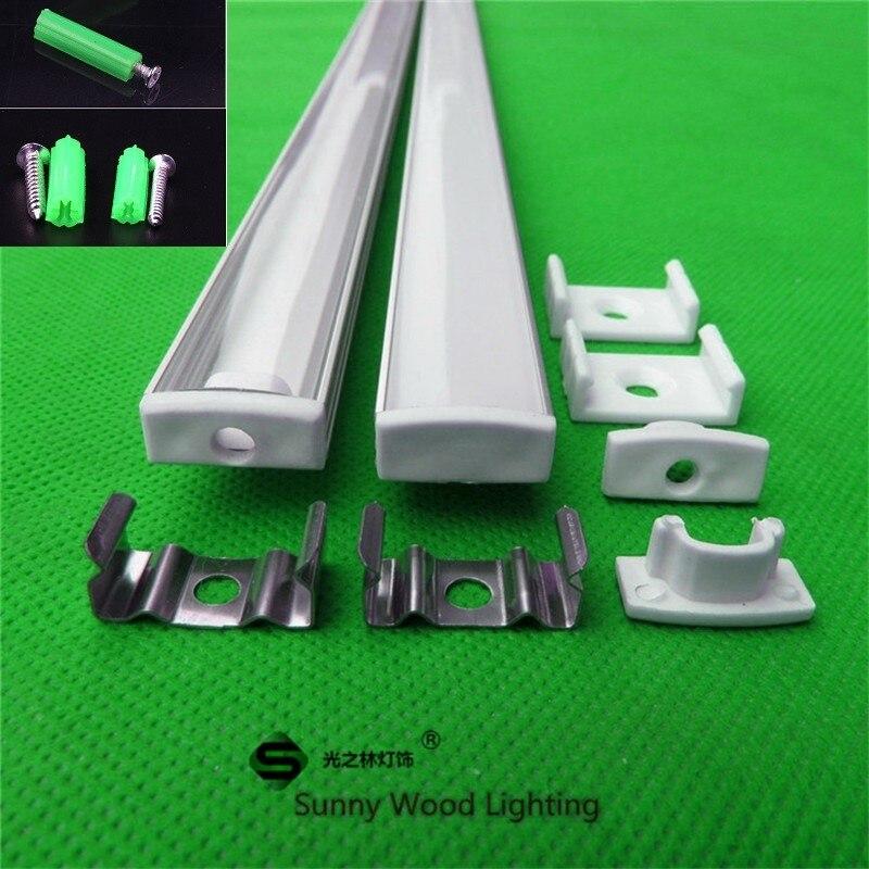 웃 유2-30 teile/los 0,5 m/teil led kanal aluminium profil für 5050 ...