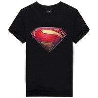 סיטונאי 2018 קיץ החדש קריאייטיב בחולצת טריקו 3D של גברים גיבור סופרמן חולצה שחורה עם שרוולים קצרים בגדי קריקטורה הדפסת כותנה חולצה