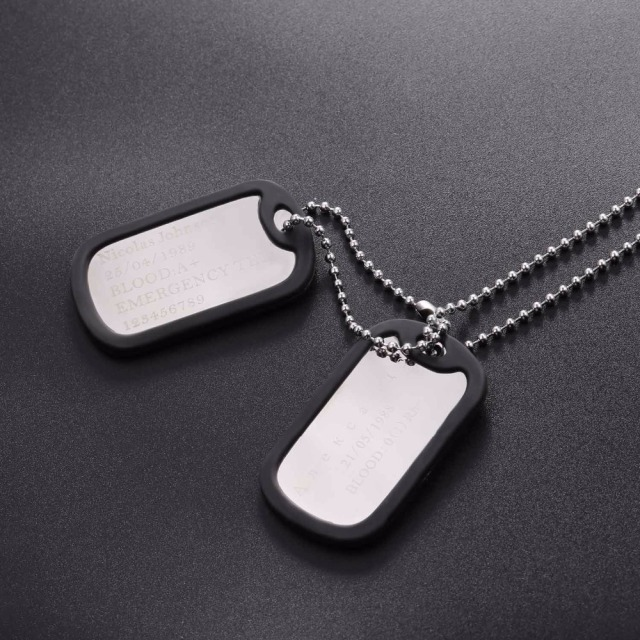 Stainless Steel Custom Engraved Dog Tags