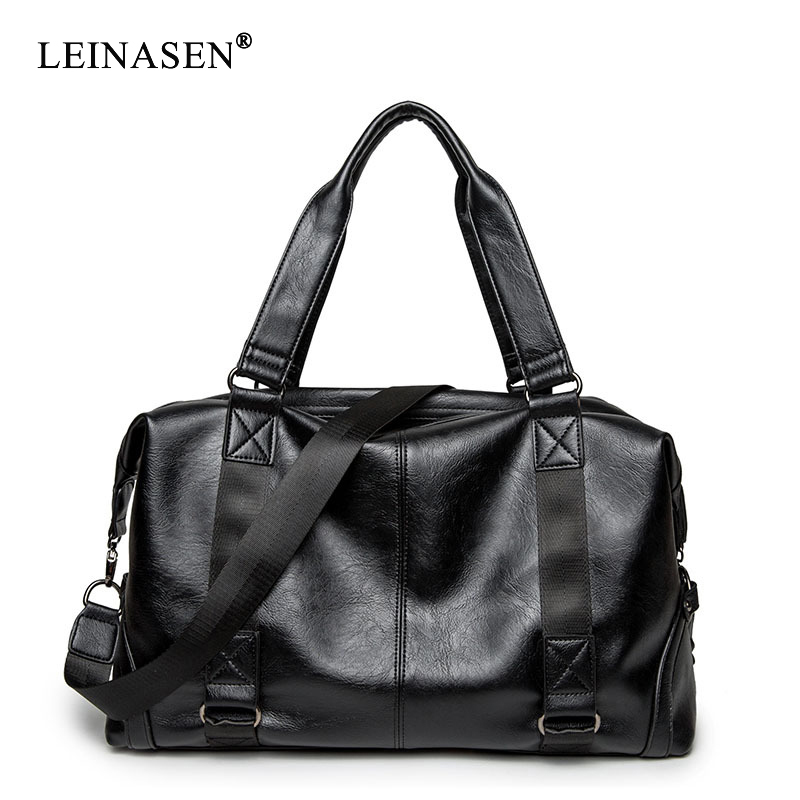 2019 New Large Capacity Men Travel Shoulder <font><b>bags</b></font> pu leather Business Travel Luggage High quality Fashion Large Man <font><b>bag</b></font> Handbags image
