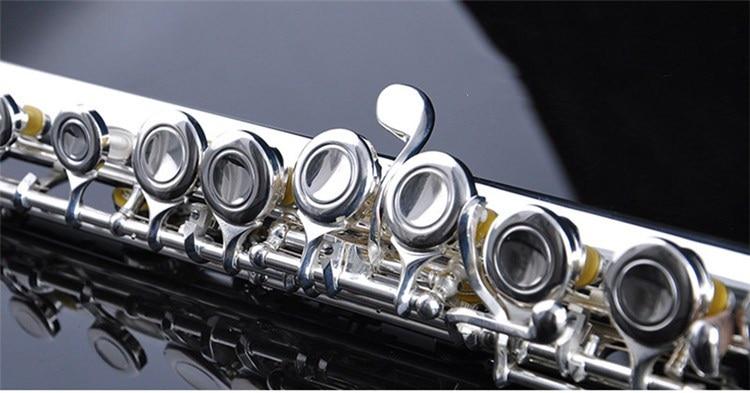 Genuine new flute YFL-471 music instrument 17 hole E key open B music C primary flute performance new color 17 open hole purple flute e key case