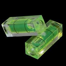 2 uds. Burbuja de nivel de burbuja de 10*10*29 Mm cuadrado con banda magnética/1 ud. Herramienta de medición de nivel de burbuja