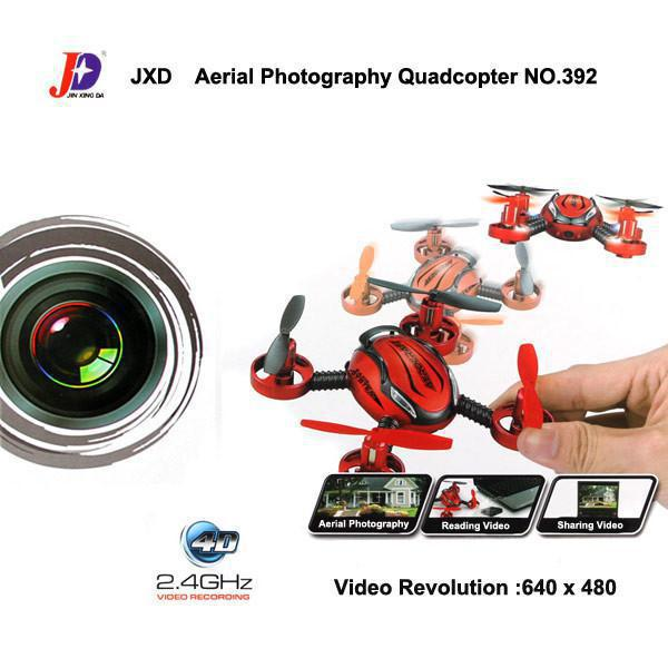 JXD 392 BNF 2.4G Remote Control Toys 4CH 6 Axis Gyro FPV RC Quadcopter with Camera for WLtoys V222/V252/V262/V272 transmitters