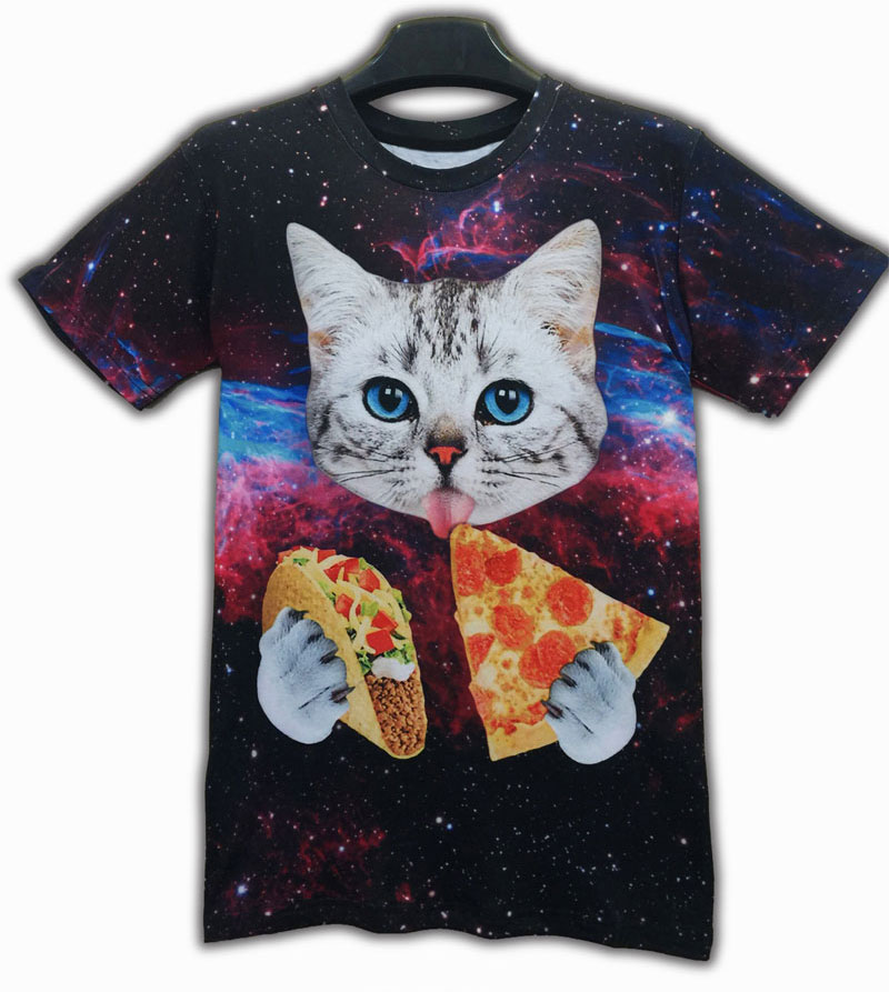 Compare prices on galaxy cat shirt online shopping buy for Shirts online shopping lowest price