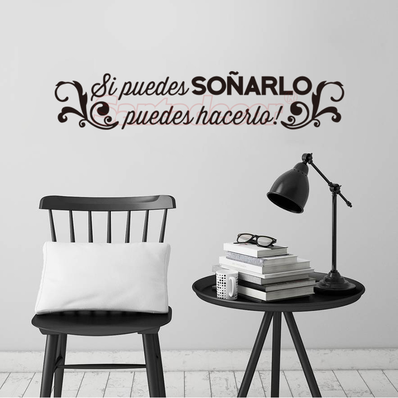 Spanish Quote Si Puedes Sonarlo Vinyl Wall Sticker Big Dream Mural Decal Office Wall Decor Wall Art Wallpaper Home Decor Poster image