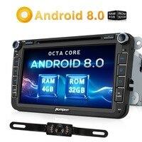 Pumpkin 2 Din 8 Android 8 0 Car DVD Player GPS Navigation For VW Skoda Seat