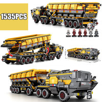 Wandering Earth CN373 Bucket Carrier vehicle Scoop truck fit legoings Military Technic SWAT city Building Block Bricks toys