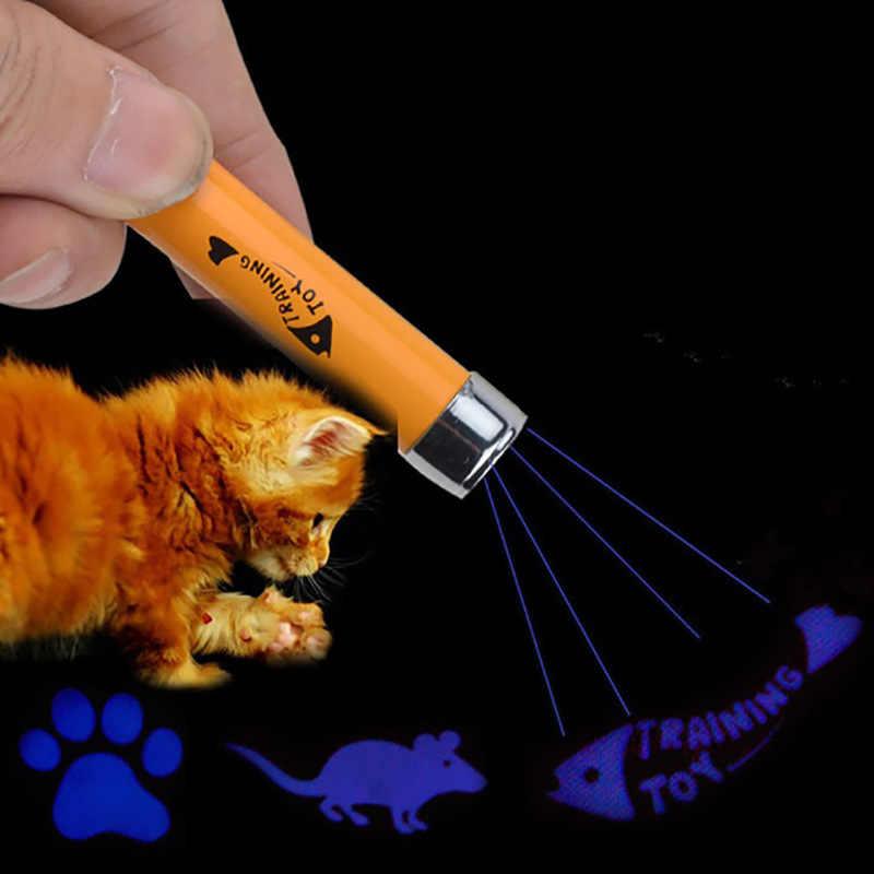 Creativo Divertente Pet LED Laser Gatto Giocattolo Per Il Gatto Puntatore Laser Penna Interattiva Gatti Giocattolo Con Luminoso Animazione Mouse Ombra
