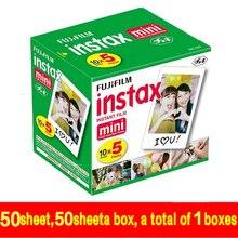 50 Листов Белый Fujifilm Instax Mini 8 Фильмы Бумаги Фото + Бесплатная подарок Один Набор Рисования Ручки Для Fujifilm Камера Мини 7 s 25 50 s 90