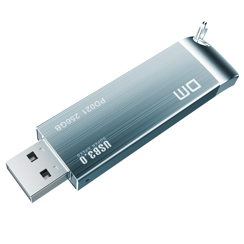 Free Shipping DM PD021  16GB 32GB 64GB 128GB 256GB USB Flash Drives Metal USB 3.0 High-speed Write From 10mb/s-60mb/s
