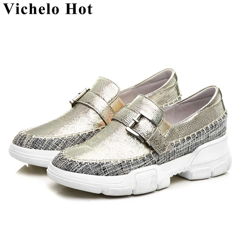 Spring brand ventilated special sheep leather buckle belt design med bottom round toe loafers comfortable vulcanized shoes L45Spring brand ventilated special sheep leather buckle belt design med bottom round toe loafers comfortable vulcanized shoes L45