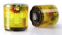 Marine solar alarm flashing LED waterproof flashing traffic barrier light at night