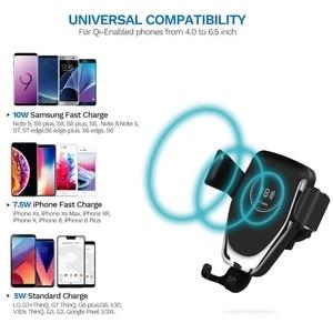 Image 3 - Support de chargeur de voiture sans fil FDGAO automatique gravité Qi pour IPhone 11 XS XR X 8 10W support de téléphone de charge rapide pour Samsung S10 S9