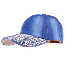 SUOGRY Baseball Caps 2016 New Style Pure Men And Women Sun Hat Rhinestone Hat Denim And Cotton Snapback Cap Hip-Hop Hat