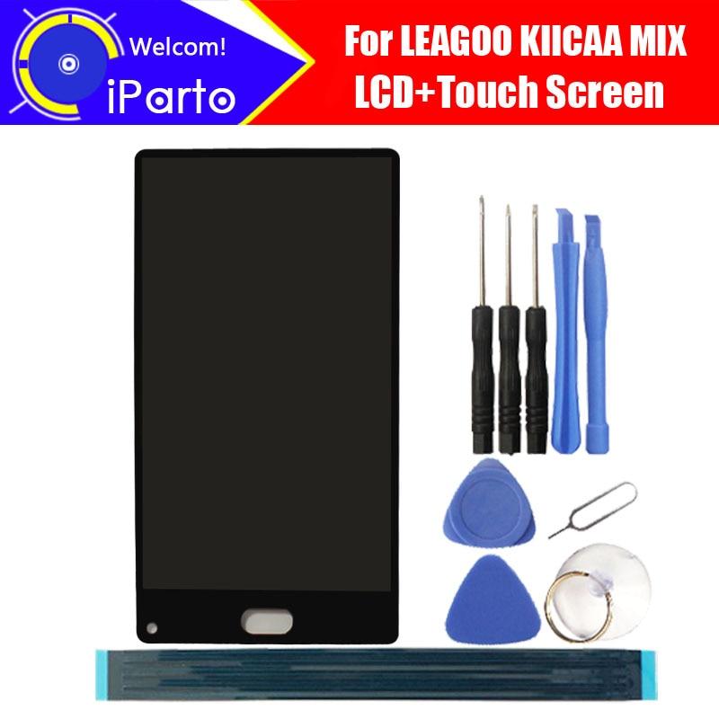 5.5 LEAGOO KIICAA MIX LCD Display+Touch Screen Digitizer 100% Original LCD Screen Glass Panel Assembly For KIICAA MIX