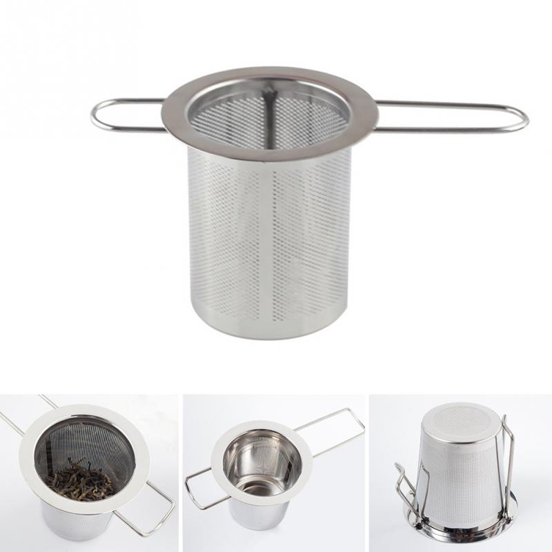 Silver Color Reusable Stainless Steel Tea Strainer Infuser Filter Basket Mesh Tea Infuser Filter Herbal Ball Tea Tools New