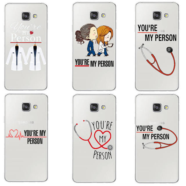 check out ce74f 286f6 US $1.66 30% OFF|Grey's Anatomy You're My Person Phone case For Samsung S6  S7 Edge S8 Plus A3 A5 A7 J1 J5 J7 2016 2017 Case Cover Skin Coque Capa-in  ...