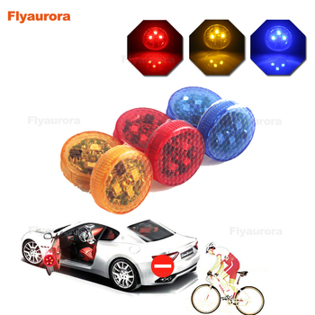 2X Universal LED Car Opening Door Safety Warning Anti-collision Lights Magnetic Sensor Strobe Flashing Alarm Lights Parking Lamp image