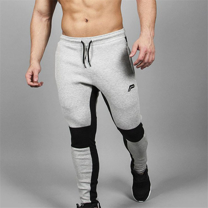Image 4 - 2018 New Running Tights Men Joggers Compressed Pants Gym Men's Bodybuilding Pants Sports Skinny Legging Sportswear Long Trousers-in Running Pants from Sports & Entertainment
