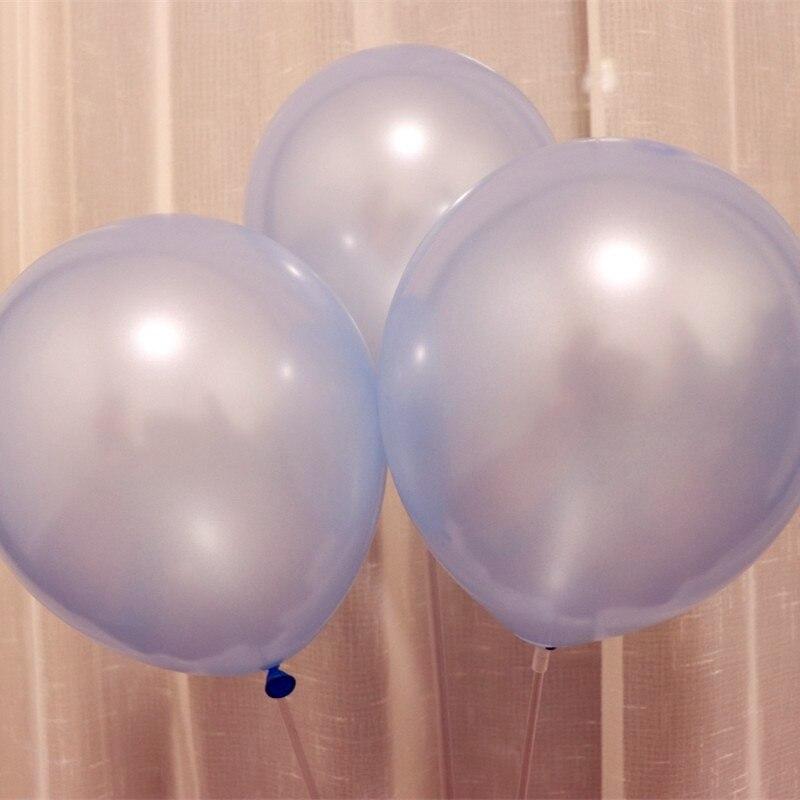 Luz azul de látex balões 100 pcs/lot10inch 1.5g pérola decoração de casamento balão balão de ar inflável