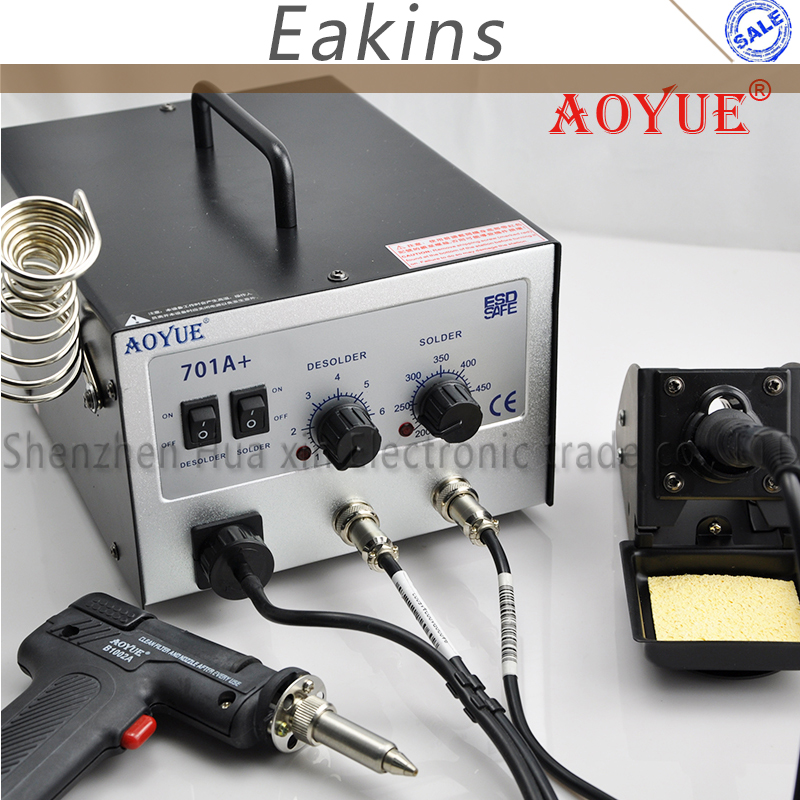 AOYUE 701A+ 2 IN 1 Electric Vacuum Desoldering Pump Solder Sucker Gun + Soldering Station for AOYUE 474A+ I474A++ I701A+ цена