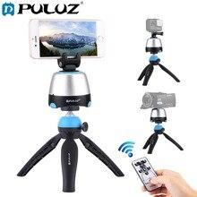 PULUZ Elektronische 360 Grad Rotation Panorama Kopf mit Fernbedienung & Stativ Mount & Telefon Klemme für Smartphones, goPro, DSLR