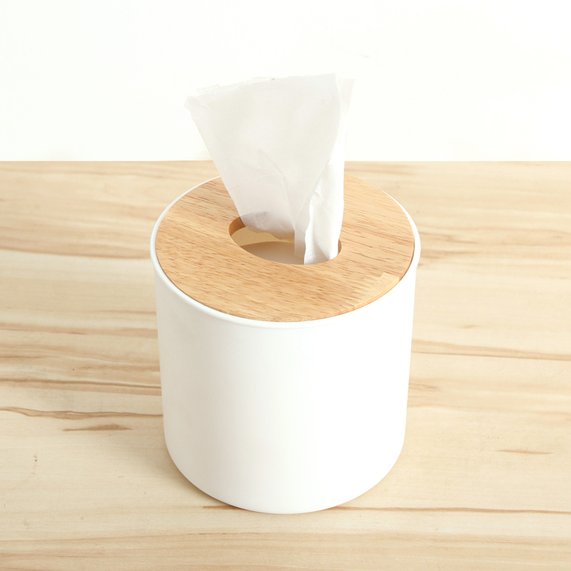 Europe Wood Tissue Box Holder Cover Home Decor Bathroom Storage Roll Paper  Canister Cover Case Holder