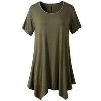 2017 חדשה באיכות גבוהה לנשים חולצה רופפת צבע מרובה Tees צבע רגיל מוצק כותנה שרוול קצר נשים בחולצת טריקו נקבה חולצות