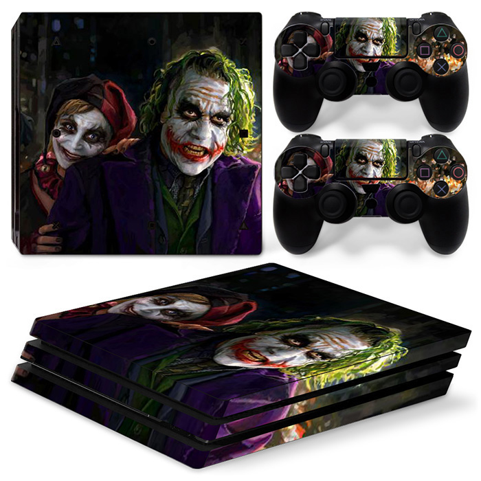 Joker Protective Vinyl Skin Decal Cover for PS4 Pro Console Controllers